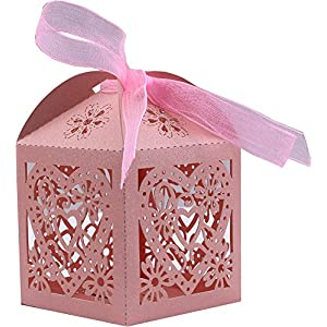 50 Piece Wedding Bridal Favor Gift Boxes