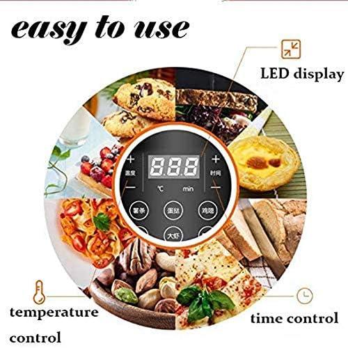SHYOD Friteuse à air, Grandes friteuses à air Chaud Rapides et cuisinière sans Huile avec préréglages, écran Tactile LED adapté au Lave-Vaisselle, antiadhésif