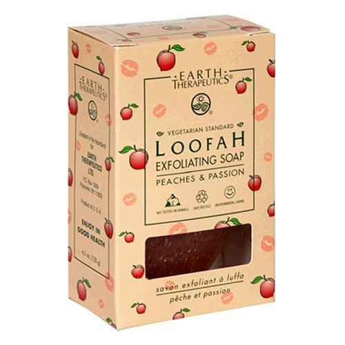 Earth Therapeutics Loofah Exfoliating Soap, Peaches & Passion (Pack of 12)