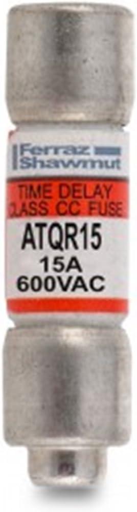 15Amp 600V Cartridge Fuse Ferraz Shawmut//Mersen ATQ-R-15