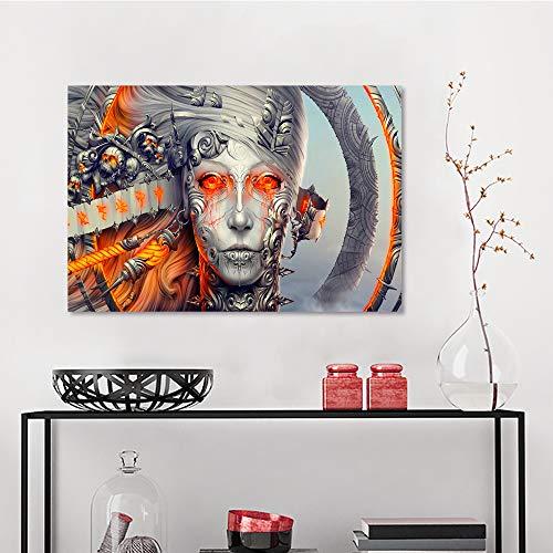Allbrit Wall Decor, an Dark Art Artwork Fantasy Artistic Original Psychedelic Horror Evil Creepy Scary Spooky Halloween, Canvas Art W23.6 x L31.5 Inch]()