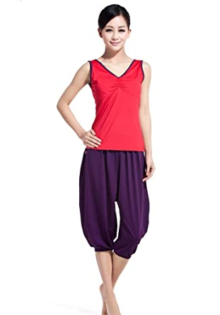 482e40ee89110 Discount yoga clothing sale cheap plus size clothes ladies sports wear yoga  sets cute workout clothes (XL)  Amazon.co.uk  Clothing