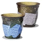 SARA-CERA-JAPAN Kutani Twin Cups with gold and silver flyer [Home & Kitchen]