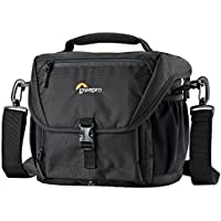 Lowepro Nova 170 AW. DSLR Shoulder Camera Bag for Pro DSLR with Attached 24-105mm Compact Photo Drone.