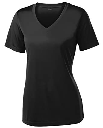 Amazon.com: Women's Short Sleeve Moisture Wicking Athletic Shirts ...