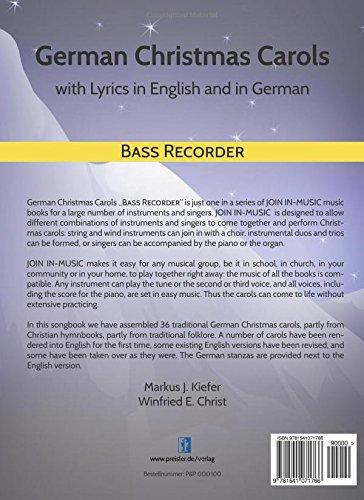 amazoncom german christmas carols bass recorder volume 23 9781541071766 markus j kiefer winfried e christ books