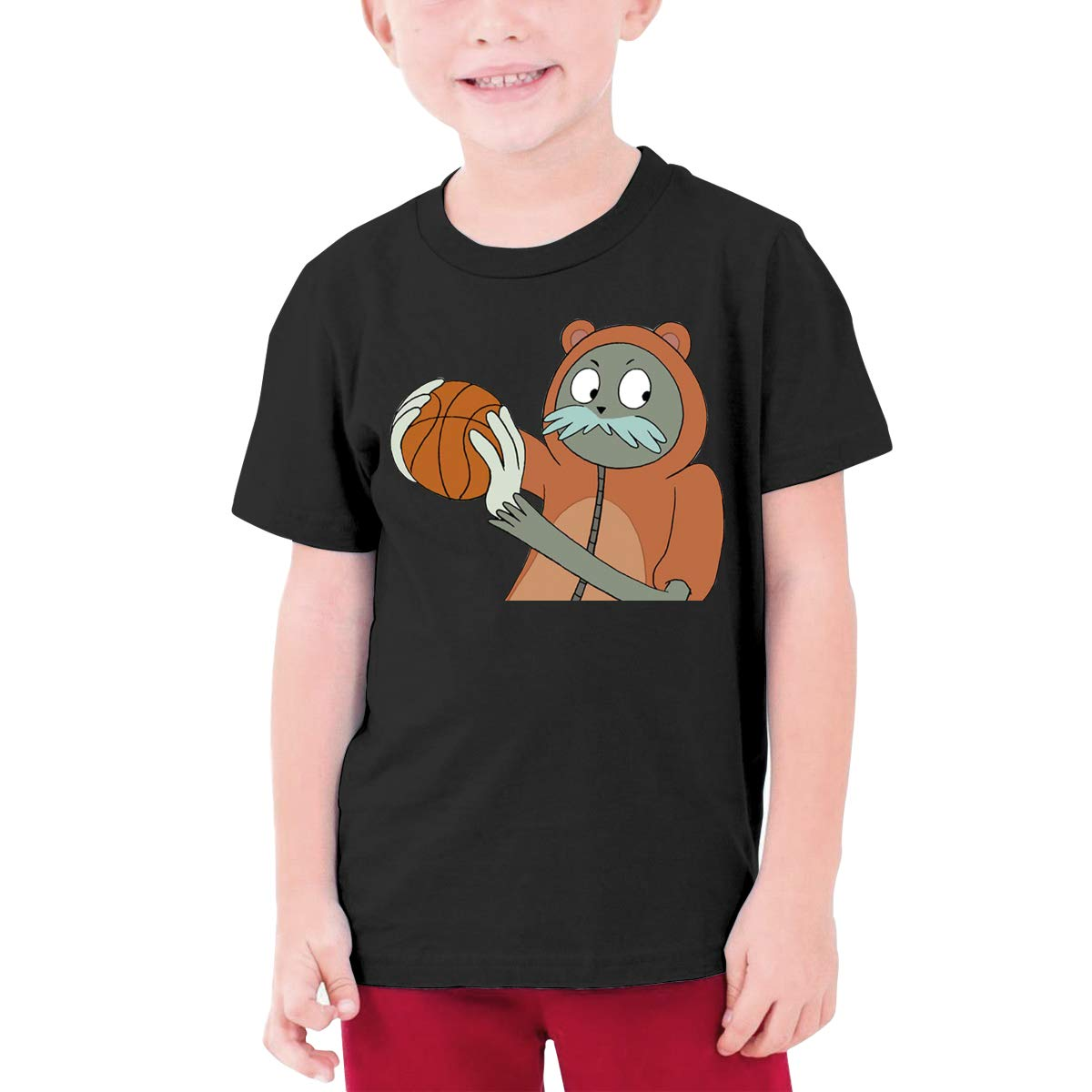 Runxin Customized Maxresdefault Funny T-Shirt O-Neck for Teenagers Black