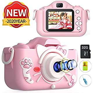 MITMOR Kids Digital Cameras for Girls Boys with 32G SD Card and Dual Lens 2.0 Inch IPS Color Screen,20.0MP HD Children Digital Video Toy Cameras Mini Camcorder for Kids Birthday Gifts【Upgraded】