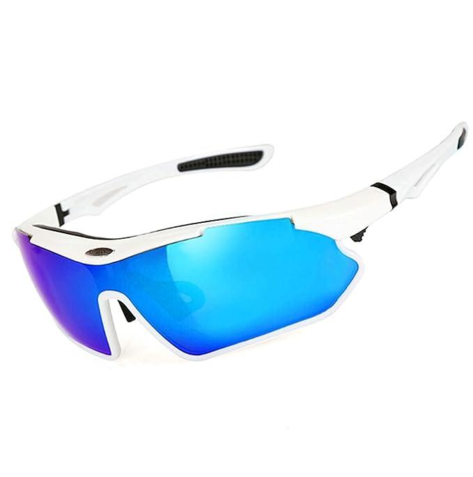 Beydodo Gafas Protectoras Viento Outdoor Blanco Gafas de Deporte Gafas de Noche Gafas de Sol Gafas de Moto: Amazon.es: Ropa y accesorios