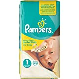 Pampers - Pañales - Talla 1 (2 -5 kg) - 3 x 45 pañales