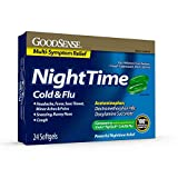 GoodSense Nighttime Cold & Flu Softgels, Relieves