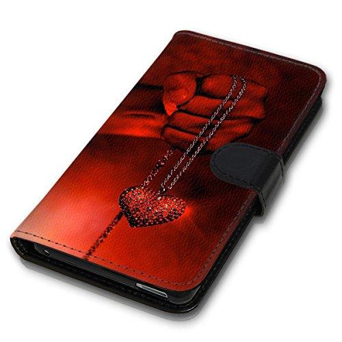 Wallet Book Style Flip Handy Tasche Case Schutz Hülle Schale Motiv Etui für Apple iPhone 5 / 5S - Design Flip MV140