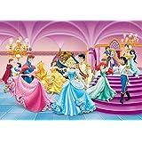Princesses Disney Papier Peint Photo/Poster - Ariel, Cendrillon, Belle Et Princesse, Une Soirée De Danse (255 x 180 cm)