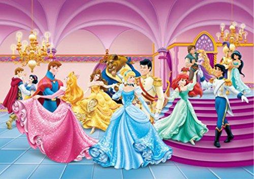 Disney Princess Poster Photo Wallpaper - Ariel, Cinderella, Belle And Princesses, Dancing (100 x 71 inches)