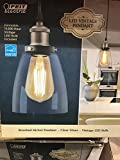 Feit nickle pendant light with Dimmable vintage bulb