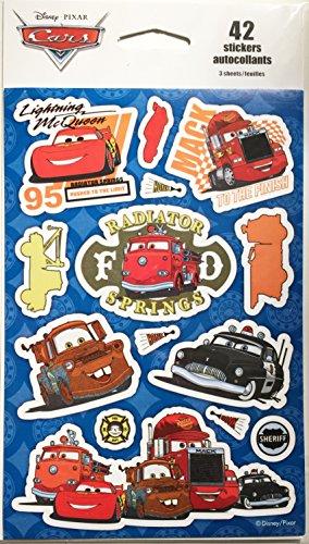 Disney Pixar Cars Sticker Pack, Pack of 3