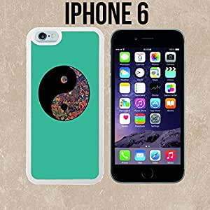 Ying Yang Trippy Flowers Custom made Case/Cover/Skin for iPhone 6 - White