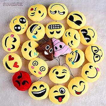 XuBa - Llavero de algodón con diseño de emoticono, 10 piezas ...