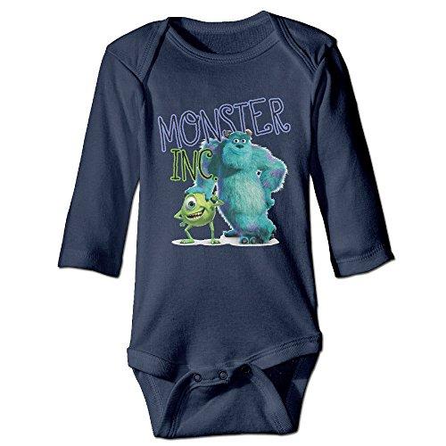 Monster Inc Monster Cute Baby's, Kid Long Sleeve Romper Bodysuit Cotton (Googly Bear Monsters Inc)