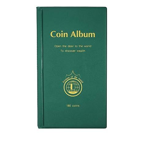 MULOVE 180 Taschen Münzsammlung Münzalbum,Münzen Sammelalbum Geeignet für Münzdurchmesser Weniger als 4,2 cm Münzen Aufbewahr