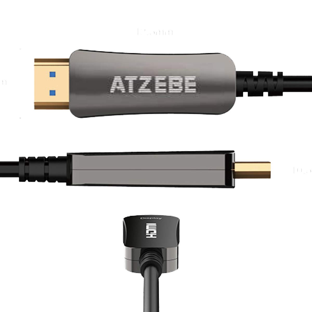 Fiber Optic HDMI Cable Supports 4K at 60Hz 4:4:4, Dolby Vision, HDR High Speed 18Gbps 3D Slim and Flexible Active HDMI Cable ATZEBE Fiber HDMI Cable 4k 50ft