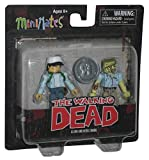 Walking Dead Minimates Exclusive Mini Figure 2-Pack Glenn & Nerd Zombie