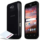 ZTE Overture 2 Case, [BLACK] Slim & Flexible Anti-shock Crystal Silicone Protective TPU Gel Skin Case Cover for ZTE Overture 2