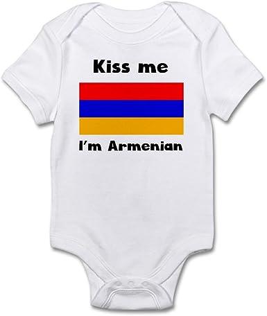 Kiss Me I Am Armenian Baby Bodysuit One Piece