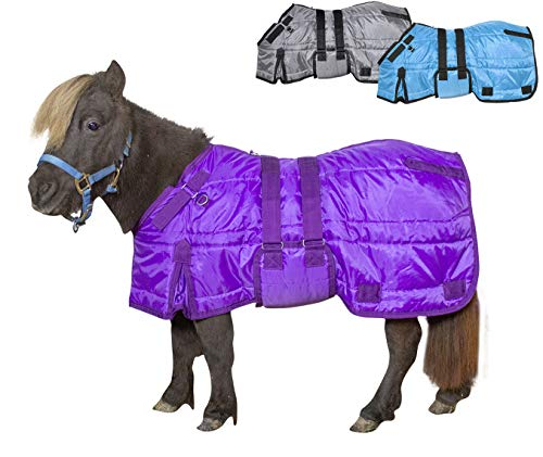 (Derby Originals Windstorm Series Mini Horse & Pony Winter Closed Front Belly Band Blanket 200g Polyfil Insulation, 44