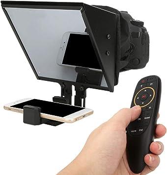 Pomya Teleprompter - Televisor inalámbrico portátil de 5 Pulgadas para cámara réflex Digital y teléfono móvil máximo de 6,5 Pulgadas: Amazon.es: Electrónica