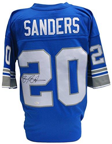 Barry Sanders Signed Detroit Lions Replica Mitchell & Ness Jersey JSA - Barry Sanders Football Jersey