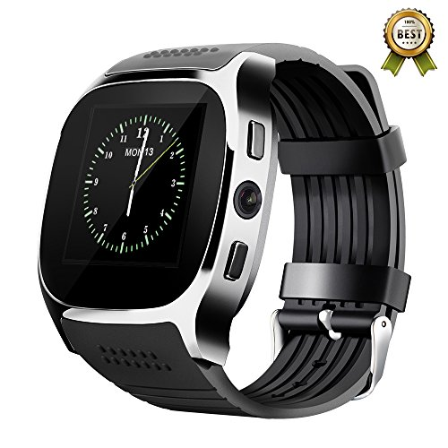 SIM SLOT/NO Heart Rate Monitor Smart Watch, Tufen T8 Phone calls answering & dial-up Pedometer Calorie Counter Sleep monitor Message Notifier Sedentary Touch ScreenWristwatch for Smartphone Black