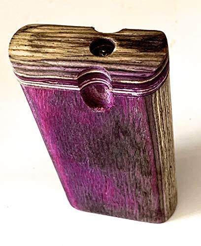 Handmade Power Purple Sized Wooden Holding Box with Cleaner + Bat