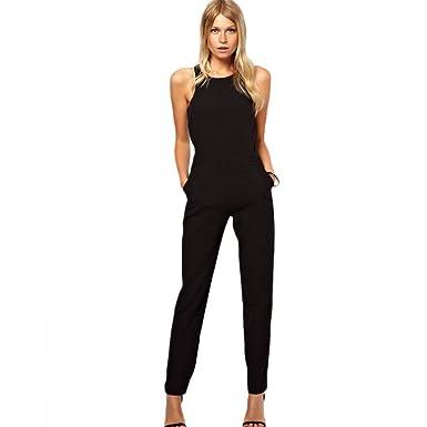 Women Jumpsuits Hehem Sexy Thin Waist Womens Black Fashion