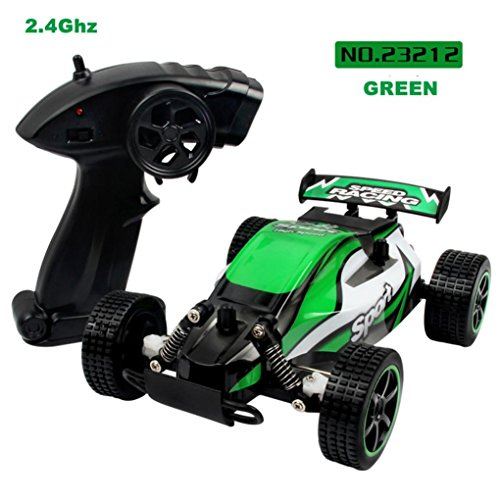 Leegor 1:20 2.4GHZ 2WD Radio Remote Control Off Road RC RTR Racing Car Shock Absorption SUV Vehicles Model Birthday Present (Green) 2wd Suv