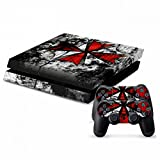 Cheap MODFREAKZ™ Console and Controller Vinyl Skin Set – Red Umbrella Logo for Playstation 4