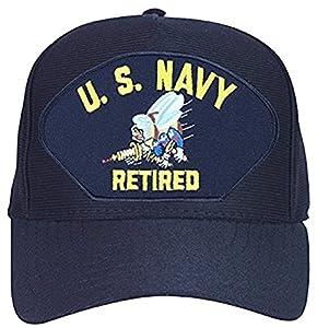 U.S. Navy Seabee Retired Baseball Cap. Navy Blue. Made in USA