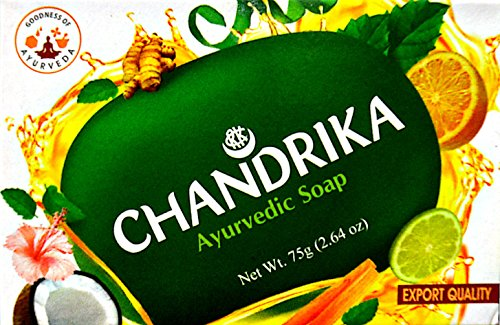 Chandrika Bath and Body Ayurvedic Oval Bar Soap (Pack