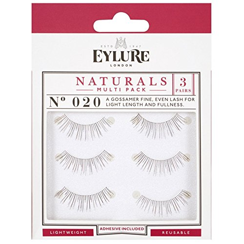 bcd48977d63 (Multi Pack- 3 Pairs) Eylure Naturalites #020 False Eyelashes, Black
