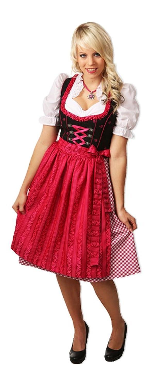 Fuchs Trachten Dirndl Lara - Pink 60cm - Zauberhaftes Mididirndl fürs Oktoberfest
