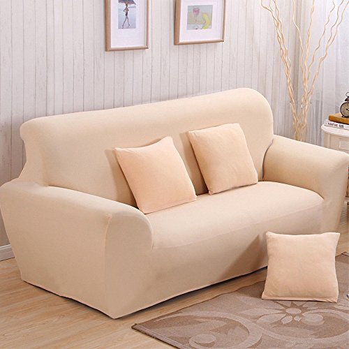 Stretch Seat Chair Covers Couch Slipcover Sofa Loveseat Cover 9 Colors/4 Size Available for 1 2 3 4 Four People Sofa + Pillowcase (57