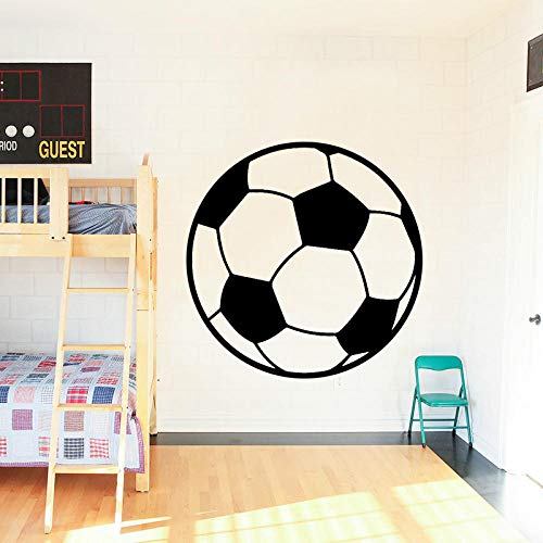 ZHRRYA Wall Sticker Football Sports Equipment Soccer Wall Sticker for Kids Room Children Decoration Boys Room Vinyl Decal Removable Mural Decor 58x57cm