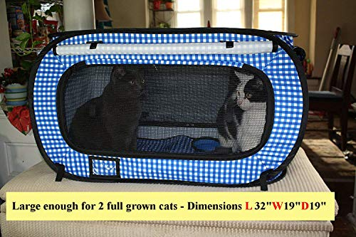 Pet Fit For Life Collapsible Cat Carrier with Portable Litter Box and Water/Food Bowl
