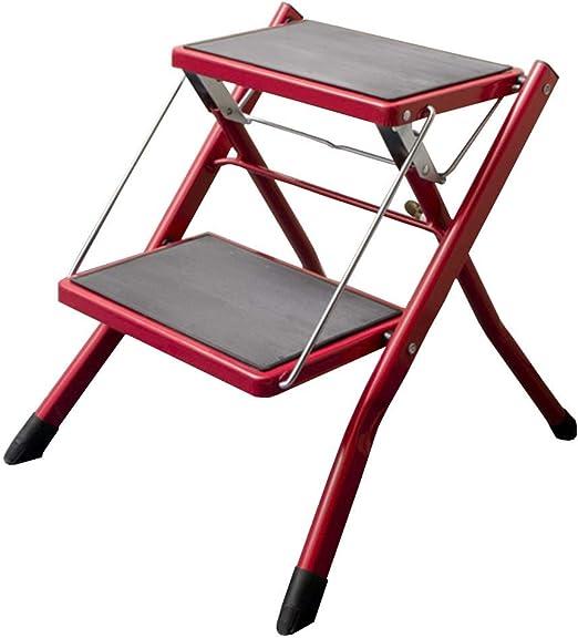 Escalera De Dos Pasos Plegable para El Hogar De AleacióN De Aluminio Escalera De Dos Pasos De Engrosamiento Escalera En Espiga Cocina De Lavado De Autos Escalera Ascendente,Red: Amazon.es: Hogar