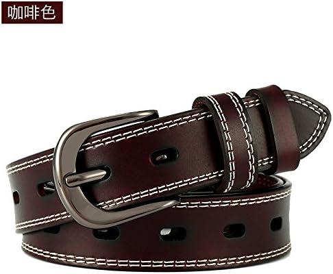 HAPPY-BELT Cinturón Decorativo de Moda Boutique Cinturón de Cuero de Dama de Adorno con un Fino cinturón con una Amplia Correa de Cuero de los Pantalones Vaqueros