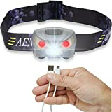 Aennon-Rechargeable-Bright-and-Waterproof-LED-Headlamp-Flashlight-with-USB-Cable