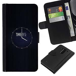 NEECELL GIFT forCITY // Billetera de cuero Caso Cubierta de protección Carcasa / Leather Wallet Case for LG G3 // TIEMPO desperdiciarla
