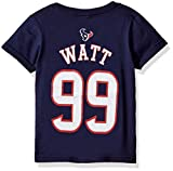 NFL Boys 4-7 J. J. Watt Houston Texans Mainliner Name & Number Short Sleeve Tee, Medium/(5-6), Deep Obsidian