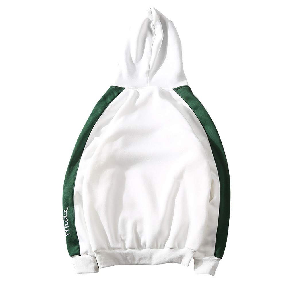 Mens Warm Patchwork Pullover Hooded Tops Outwear for Boys Mens Baseball Uniform
