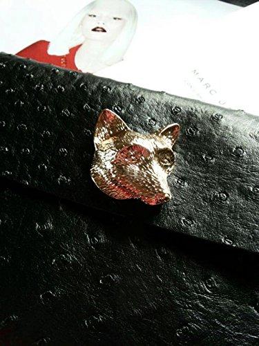 Zarapack in pelle sintetica da donna in metallo a forma di Fox Head-Custodia per IPad